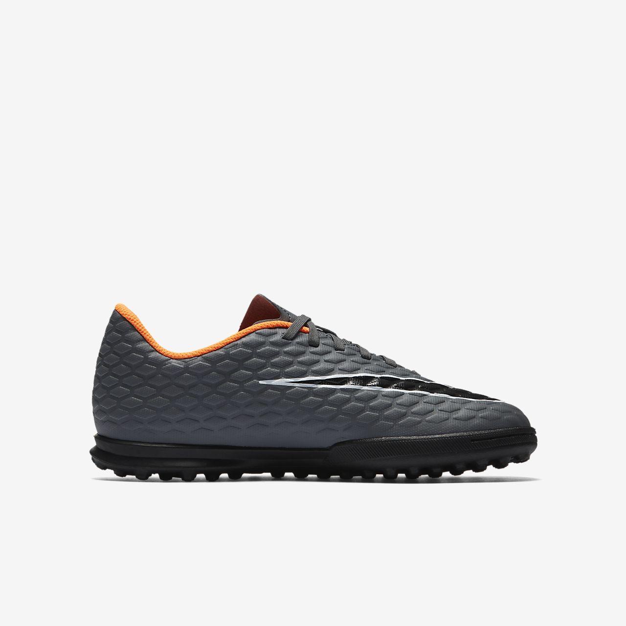 premium selection 808ef 5bf00 Nike Hypervenom PhantomX 3 Club Turf Junior - Dark Grey/Orange