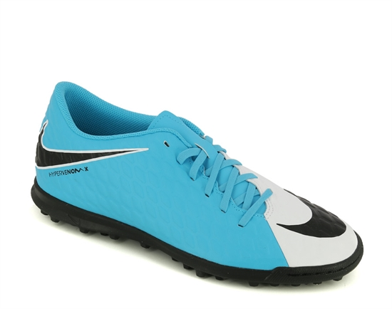 hot sales ca382 6bea7 Nike Hypervenom Phade III TF Jnr White-Black-Blue