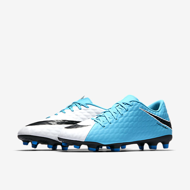 newest 53653 7c726 Nike Hypervenom Phade III FG White/Black/Blue